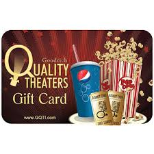 theater gift cards goodrich quality theaters 50 value gift cards 2 x 25 sam s club
