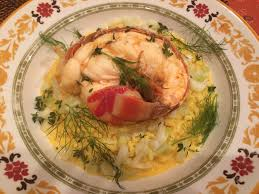 cognac cuisine lobster risotto with saffron and cognac recipes and cuisine