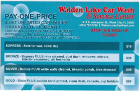 pay one price monthly special walden lake car wash