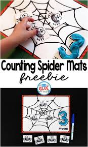 spider counting mats kindergarten free printable and spider