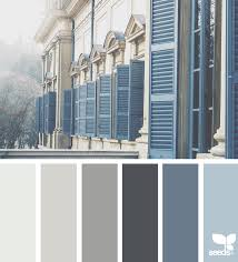 color view grey siding blue shutters and colors