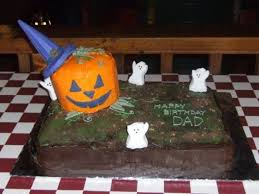 birthday cake halloween dad u0027s halloween birthday cake cakecentral com