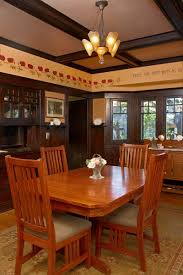 plan no 382 a model bungalow arts crafts homes and the revival the dining room retains original dark stained woodwork now embellished with a painted poppy