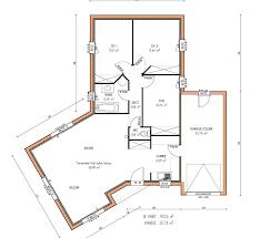 plan maison plain pied 3 chambres plan de maison en l gratuit plan maison 100m2 4 chambres 12 120m2
