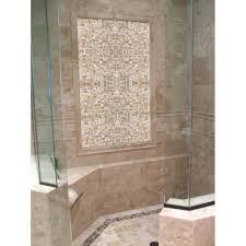 shell tile backsplash mother of pearl tile shower wall and floor backsplash