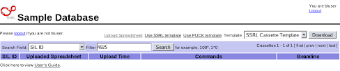 How To Use Spreadsheet As Database The Ssrl Automated Mounting Sam System