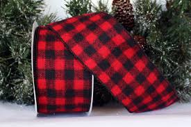 and black plaid ribbon buffalo check flannel plaid ribbon we 2 widths shops