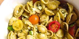 best pesto feta and cherry tomato pasta salad recipe how to