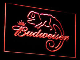light up beer signs budweiser lizard lighted sign light up beer signs light signs cave