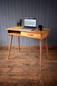 vintage wood desk vintage mid century wooden desk with hairpin legs u0026 drawer retro