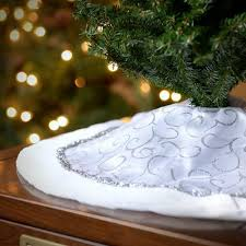 seasons designs 20 inch mini tree skirt in white with