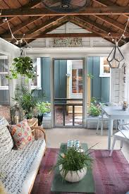 shed turned boho screened porch porch screens and backyard