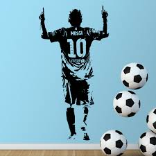 Popular Wall Stickers For Kids Rooms Football MessiBuy Cheap Wall - Cheap wall stickers for kids rooms