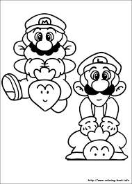 mario bros coloring picture