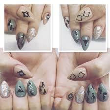 black southwestern nail decal southwestern nails western
