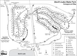 Wisconsin State Map by Devils Lake Camping Info