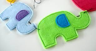 sew baby felt elephant pennant banners e pattern