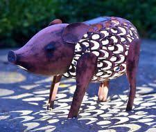 pigs animals metal garden statues lawn ornaments ebay