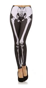 Skeleton Maternity Halloween Costumes Charades Costumes Skeleton Leggings Halloween