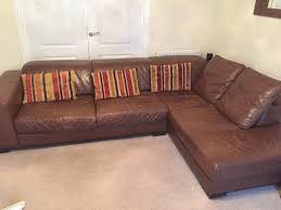 Brown Leather L Shaped Sofa Leather Brown L Shaped Sofa And Electric Recliner