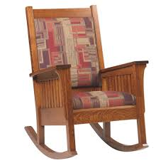 Amish Bedroom Furniture Mission Style Amish Relax Mission Style Rocker