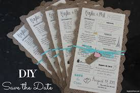 Diy Save The Dates Inspired I Dos Story Of Us Diy Save The Date