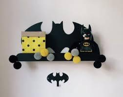 Batman Bookcase Batman Shelf Etsy