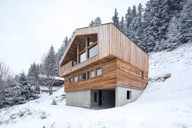 chalet homes handsome timber chalet shows the of modern minimalism