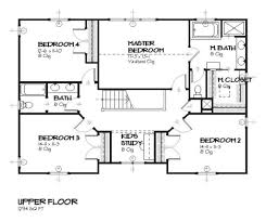 traditional style house plan 4 beds 2 50 baths 2483 sq ft plan
