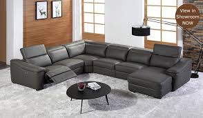 Recliner Sofa Forza U Shape Electric Recliner Sofa Top Grain Leather Luxury