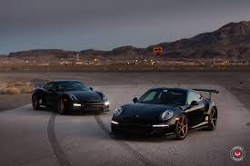 porsche 911 gt3 modified sith twins porsche 911 gt3 rs and cayman gt4 on vossen wheels