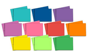 40 blank note cards multi color pack matching color