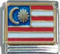 Maylasia Flag Flags Ceramic