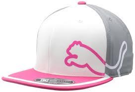 Pink Flat Color Puma Monoline 3 Color 110 Stretch Snapback Golf Cap Hat Flat