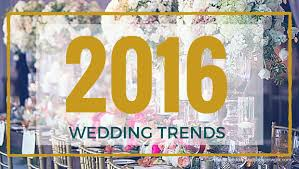 2016 wedding trends ring in the new year