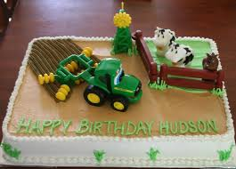 image result for cakes with tractors in fields working birthday