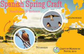 spanish spring craft swallows and robins multicultural kid blogs