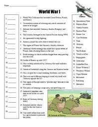 world war 1 worksheet free worksheets library download and print
