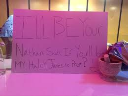 one tree hill promposal my even dressed up as nathan