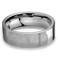 custom wedding bands 6mm 8mm custom fingerprint tungsten wedding band