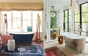Large Bathroom Rugs The Well Dressed Bathroom Part Ii U2013 Alice Lane Home Interior Design