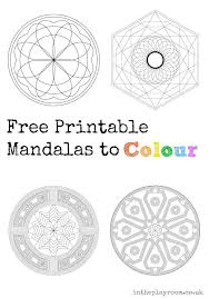 free printable mandalas colour mandalas craft coloring