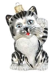 grey tabby cat the pet set blown glass european