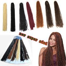 micro crochet hair 24inch soft micro knot zizi braids synthetic kinky curly braiding
