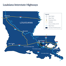 Louisiana Parishes Map by Market Access Ascension Economic Development Corporation