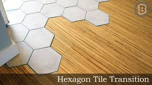 Laminate Ceramic Tile Flooring Hexagon Tile To Hardwood Floor Transition Youtube