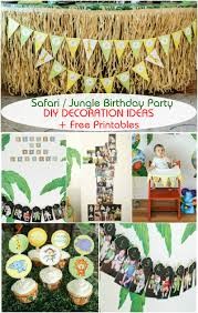 safari jungle themed first birthday party part iii diy safari jungle themed first birthday party part iii diy decoration ideas free printables included