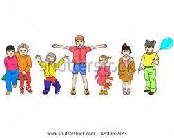cartoon young cool teenagers stock vector 475394524