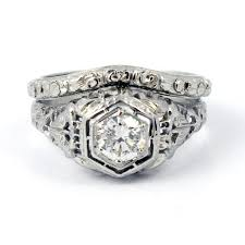 antique diamond engagement rings vintage wedding rings 1920 art deco 1920s filigree european cut