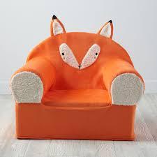 Orange Armchair Large Fox Nod Chair The Land Of Nod